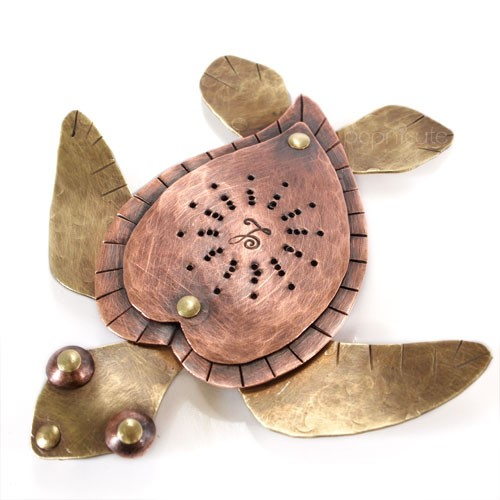 cute_sea_turtle_awareness_necklace_riveted_brass_copper_pendant_4410f95a