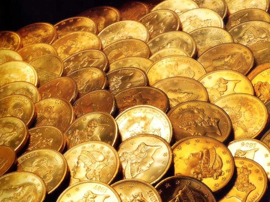 Des pièces en or