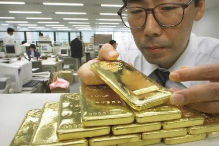 Chute du cours de l'or