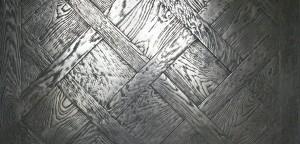Parquet en métal argenté